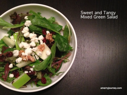 Sweet and Tangy Mixed Green Salad